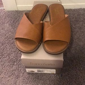 Franco Sarto Brown Slides *Box Included*